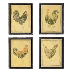 Framed Rooster Wall Plaque, Set of 4 at Kirkland's
