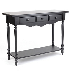 New Orleans Black Console Table at Kirkland's