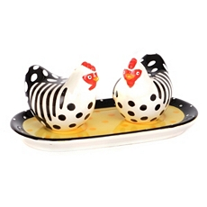 Chicken Salt & Pepper Shakers with Tray at Kirkland's