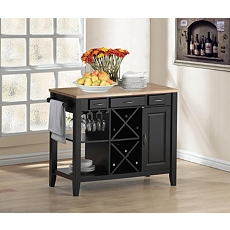 Metropolitan Kitchen Island with Wine Rack at Kirkland's