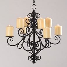 Black Scrolled 8-Candle Chandelier at Kirkland's