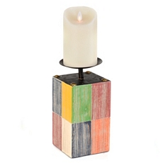 Color Block Candle Holder, 9 in. at Kirkland's
