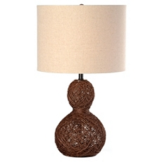 Twisted Rattan Table Lamp at Kirkland's