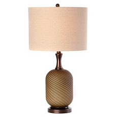 Ombre Twist Glass Table Lamp at Kirkland's