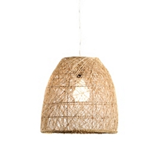 Natural Woven Rattan Pendant Light at Kirkland's