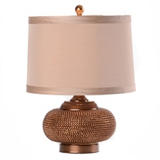 Beaded Bronze Table Lamp at Kirkland's
