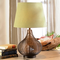 Large Bronze Wire Table Lamp at Kirkland's