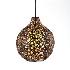 Natural Woven Wicker Ball Pendant Light at Kirkland's