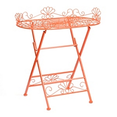 Orange Metal Folding Patio Table at Kirkland's