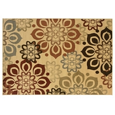 Campbell Beige Flowers Area Rug, 8x10 at Kirkland's