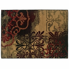 Campbell Red & Brown Medallion Area Rug, 5x7 at Kirkland's