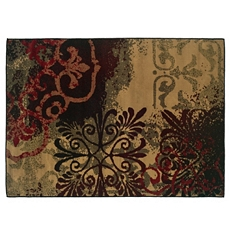 Campbell Red & Brown Medallion Area Rug, 8x10 at Kirkland's