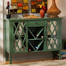 Beckley Green Wood Cabinet at Kirkland's
