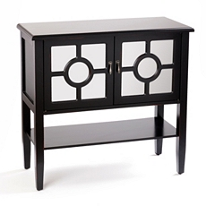 Colette Mirrored Black Console Table at Kirkland's