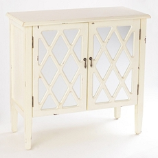 Ellie Mirrored Ivory Cabinet at Kirkland's
