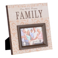 One Big Happy Family Canvas Picture Frame, 4x6 at Kirkland's