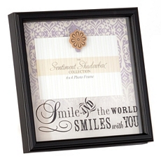The World Smiles With You Picture Frame, 4x6 at Kirkland's