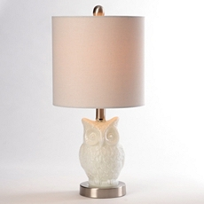 Milk Glass Owl Table Lamp at Kirkland's