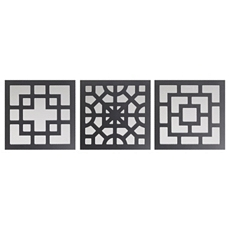 Black Geo Wall Plaque, Set of 3 at Kirkland's