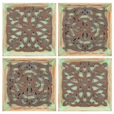 Light Green Medallion Wall Plaques, Set of 4 at Kirkland's
