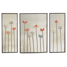 Mirrored Floral Wall Plaques, Set of 3 at Kirkland's