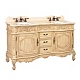 Ivory Sinclair Double Vanity Sink, 60 in. at Kirkland's
