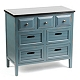 Wood Blue 7-Drawer Chest at Kirkland's