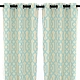 Aqua Grommet Gatehill Curtain Panel, Set of 2 at Kirkland's