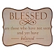 Blessed Tin Wall Plaque at Kirkland's