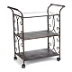 Bronze 3-Shelf Rolling Kitchen Cart at Kirkland's