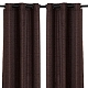 Chocolate Raw Silk Curtain Panel, Set of 2 at Kirkland's