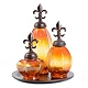 Amber Fleur-de-Lis Bottle, Set of 3 at Kirkland's