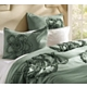 Queen Aqua Gathered Flower 3-pc. Comforter Set at Kirkland's