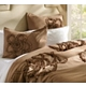 King Taupe Gathered Flower 3-pc. Comforter Set at Kirkland's