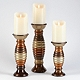 Cirque Metallic Candle Holder, Set of 3 at Kirkland's