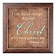 Philippians 4:13 Wall Plaque at Kirkland's