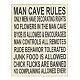 Man Cave Rules Wall Plaque at Kirkland's