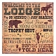 Welcome To The Lodge Canvas Art Print at Kirkland's