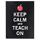 Keep Calm & Teach On Tin Wall Plaque at Kirkland's