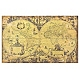 World Map Linen Canvas Art Print at Kirkland's