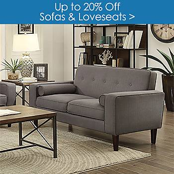 Up to 20% off Sofas and Loveseats
