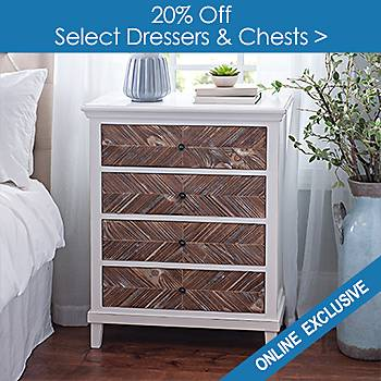 Select Dressers and Chests 20% off - Online Only