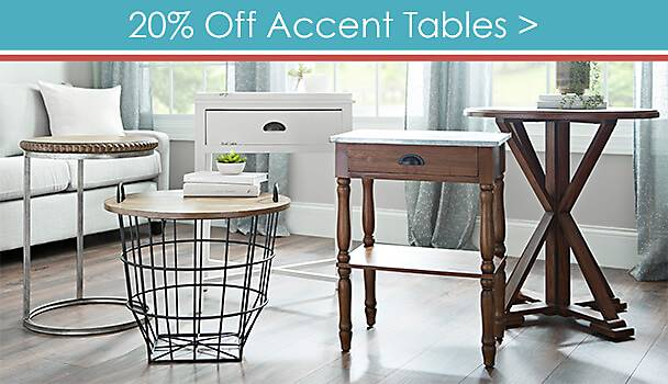 20% Off Accent Tables