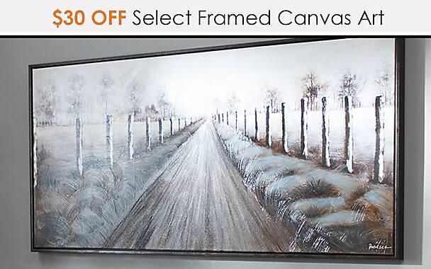 $30 Off Select Framed Canvas Art