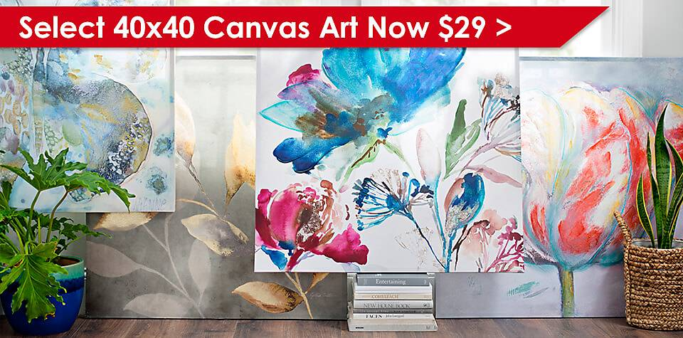 Select 40x40 Canvas Art Now $29