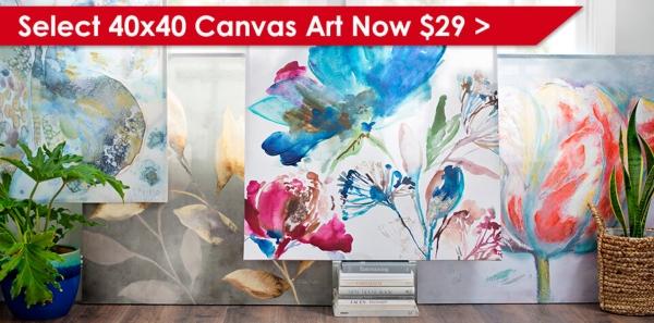 Select 40x40 Canvas Art Now $29