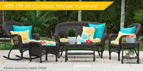 40% Off All Outdoor Wicker Furniture