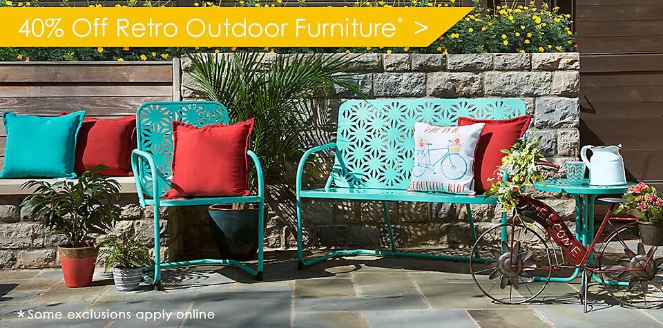 40% Off Retro Outdoor Furniture