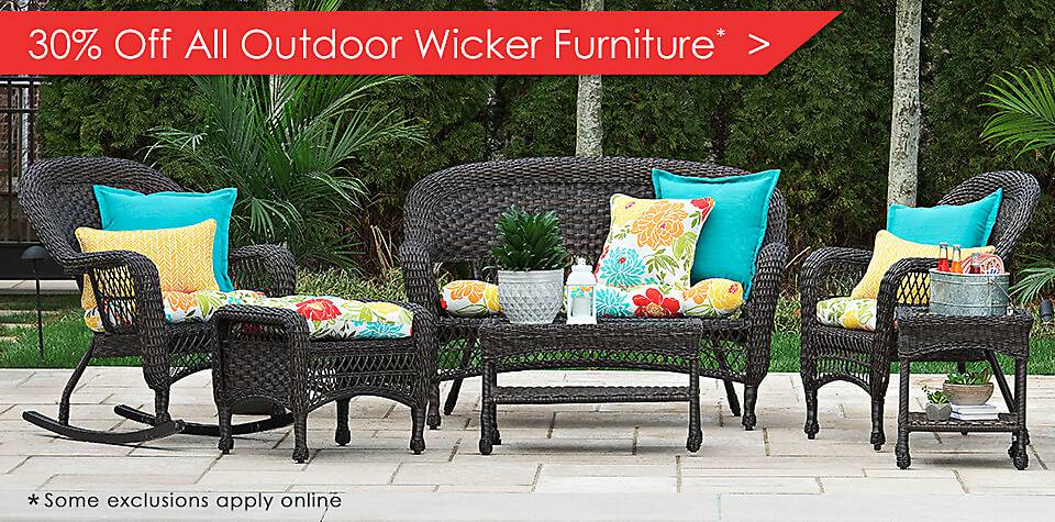 30% Off All Outdoor Wicker Furniture - some exclusions apply online