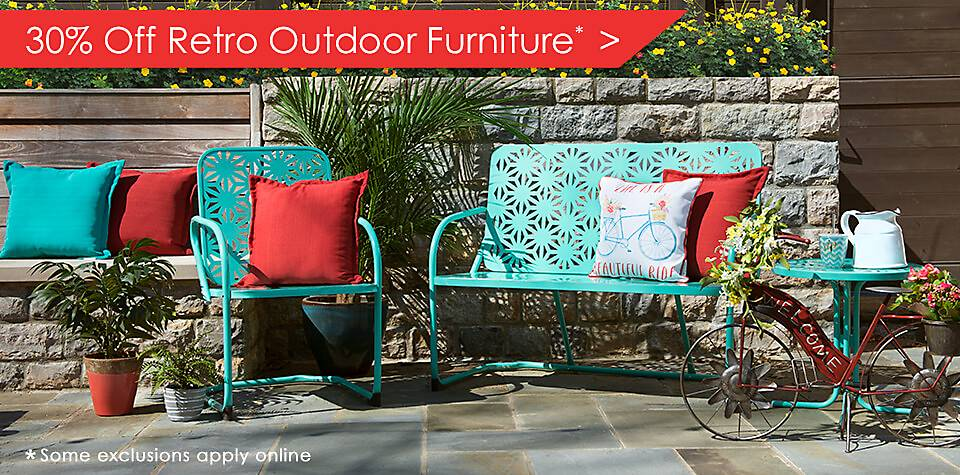 30% Off Retro Outdoor Furniture - some exclusions apply online